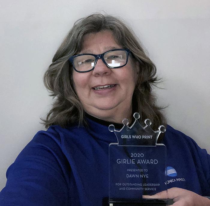2020 Girls Who Print Girlie Award Winner Dawn Nye, Konica Minolta