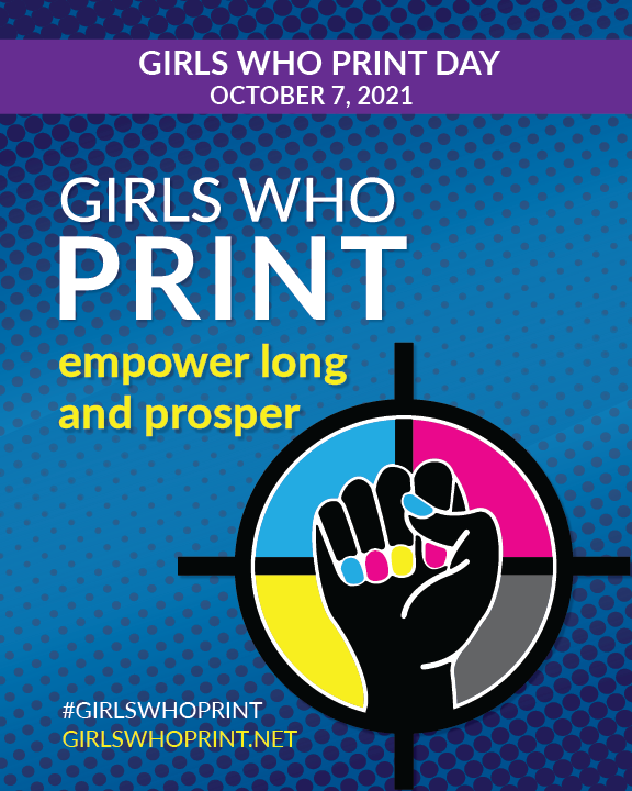 2021 Girls Who Print day Poster